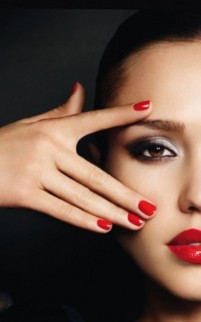 Jessica-Alba-Care-And-Polish-Red-Nail
